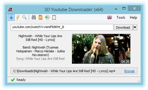 3D Youtube Downloader Portable 1.19 多國語言免安裝